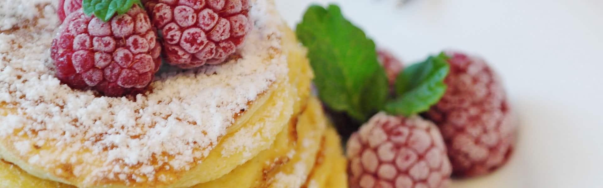 pancake e lamponi