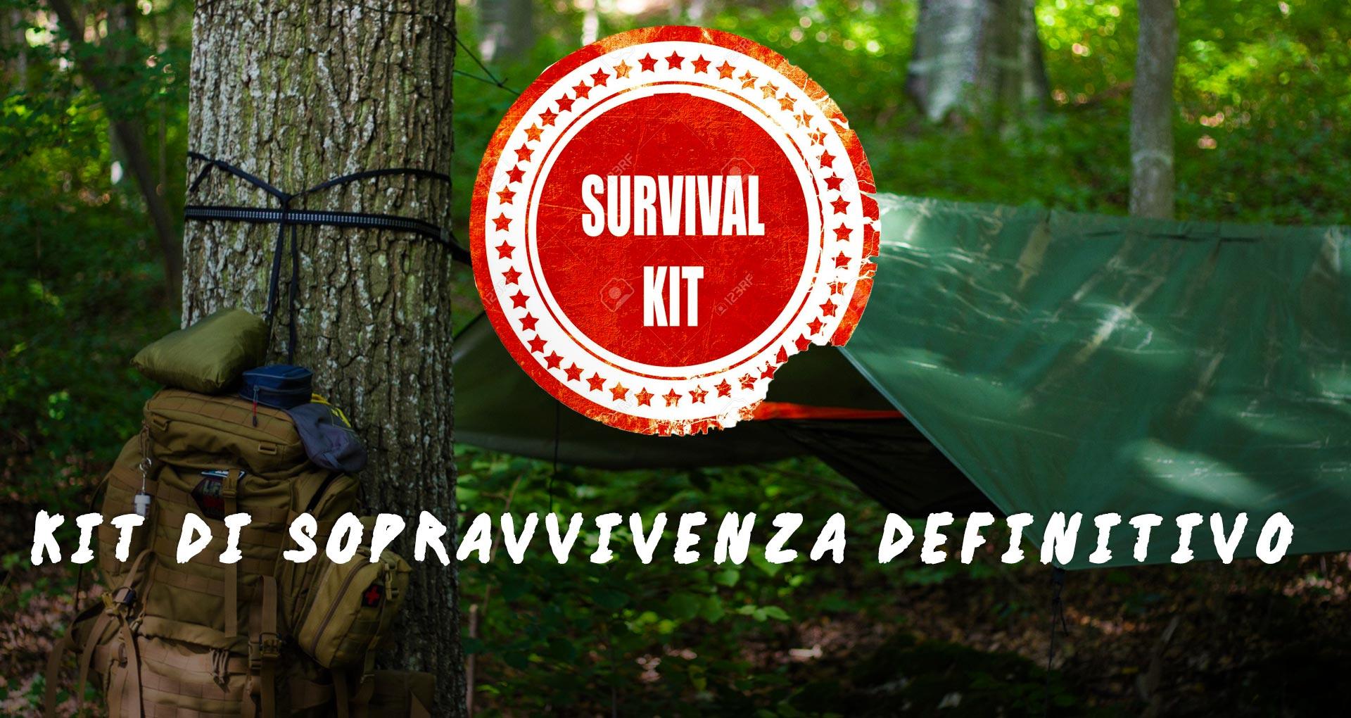 Kit di sopravvivenza per il campeggio